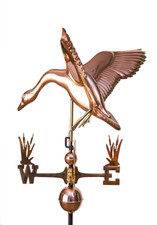 Landing Goose Weathervane with cat tail directionals