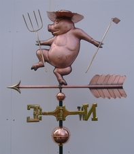 Farmer Pig Weathervane