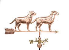 Large Two Labs Weathervane