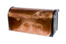 Rural Show Horse Copper Mailbox