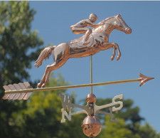 Horse and Rider Weathervane