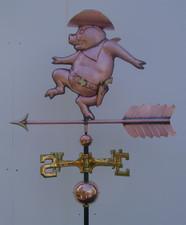 Sheriff Pig Weathervane