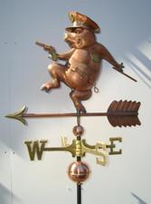 Police Pig Weathervane