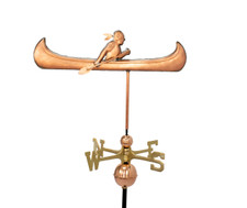 Indian in Canoe Weathervane