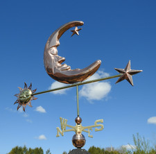 Large Sun Moon and Star Weathervane