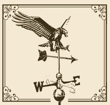 "Diving Eagle with 23"" Arrow Weathervane"