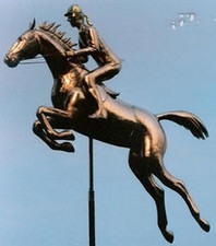 Jumping Horse with Rider Weathervane