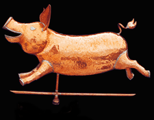 Happy Pig Weathervane