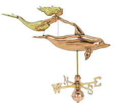 Mermaid and Dolphin Weathervane