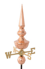 Canterbury Finial w/ Brass Directionals