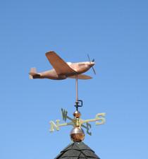 P51 Mustang Fighter Plane Weathervane