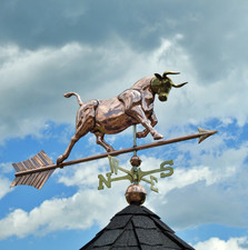 Large Charging Bull Weathervane