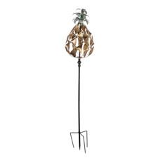 Wind Spinner, Verdigris & Gold Pineapple
