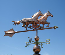 Large Two Running Horses Weathervane