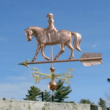 Quarter Horse and Rider Weathervane