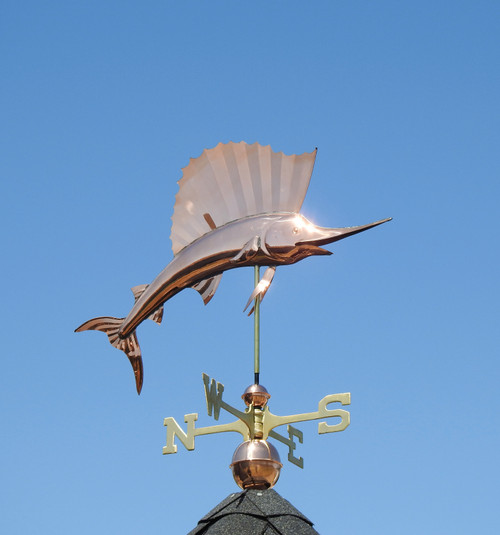 Jumping Sailfish Weathervane