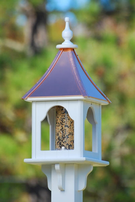 "10""W x 28""H - Square Bird Feeder"