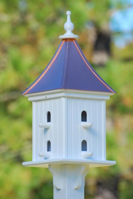 """12""""W x 28""""H - Square Dovecote Birdhouse with Perches"""