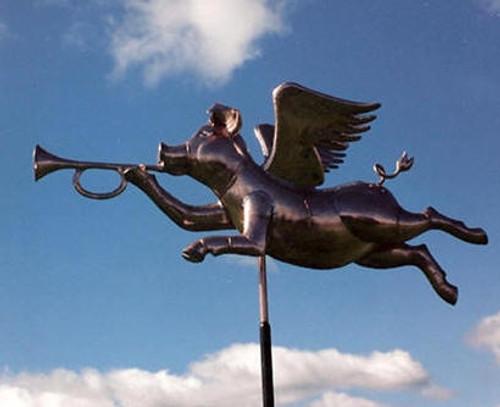 Angel Pig Weathervane