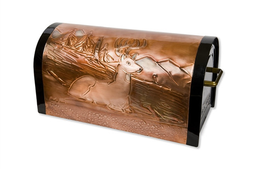 Old Mountain Buck Copper Mailbox