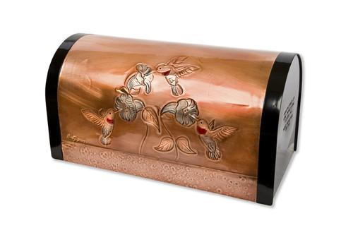 Classic Hummingbirds Copper Mailbox