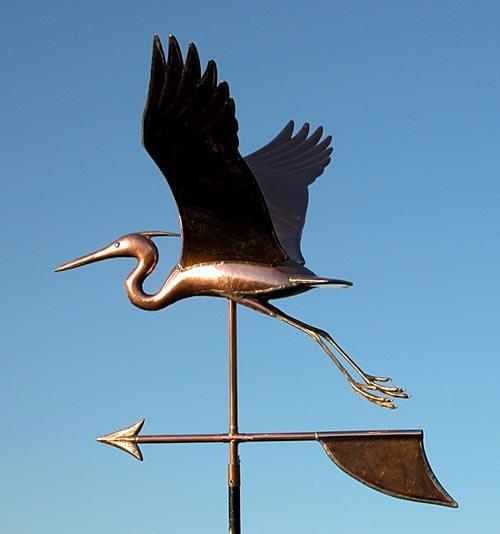 Handmade Large Heron Weathervane
