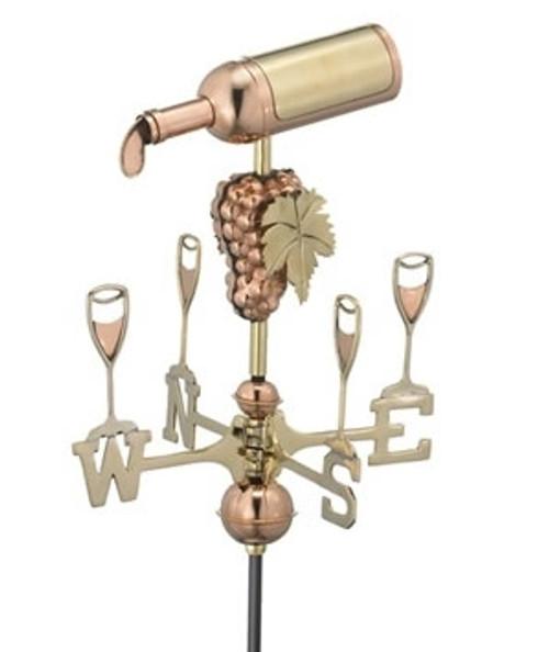 Small Wine Bottle Weathervane