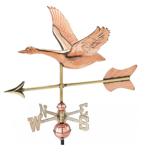 Small 3-D Goose Weathervane