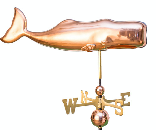 Full Bodied Whale Weathervane