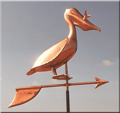 Pelican with Fish Weathervane