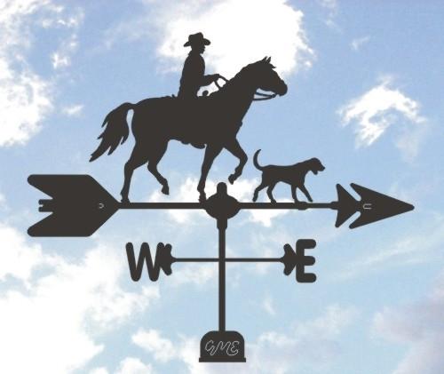 Cowboy and Dog Weathervane