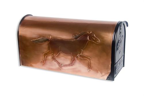 Black Beauty Copper Mailbox