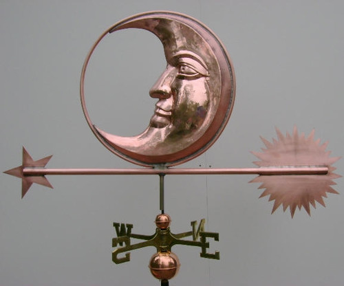Large Handmade Moon Weathervane