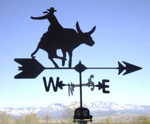 Bull Rider Weathervane