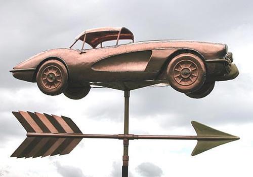 Corvette Weathervane