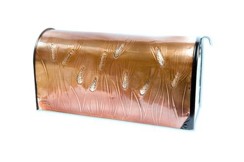 Silver Wheat Copper Mailbox