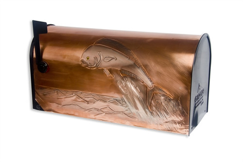 Rural Dolphinfish (Mahi Mahi) Copper Mailbox