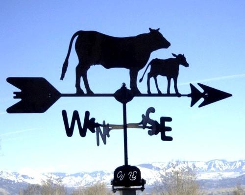 Cow and Calf Weathervane