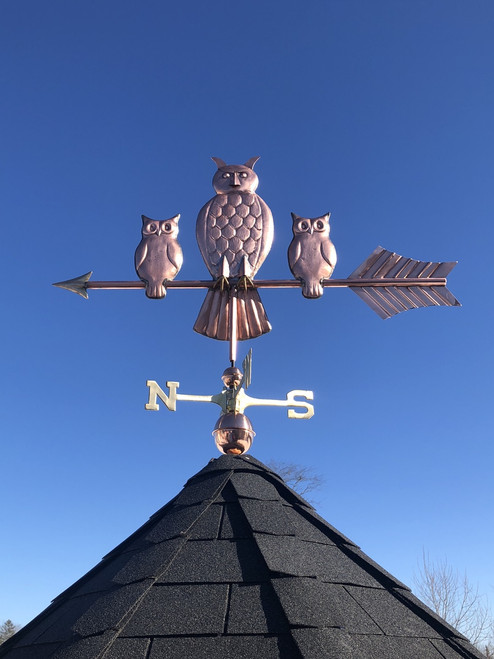 Owl and Babies Weathervane