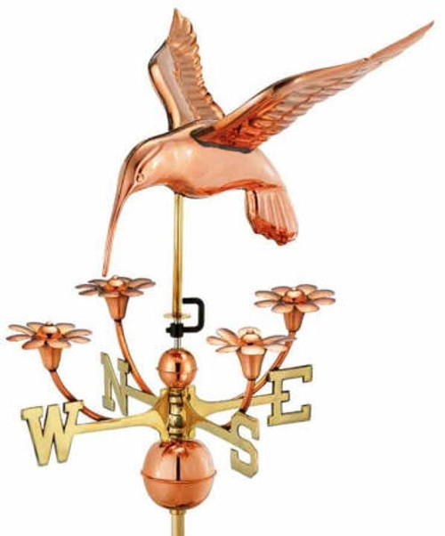 Hummingbird with Flowers Weathervane