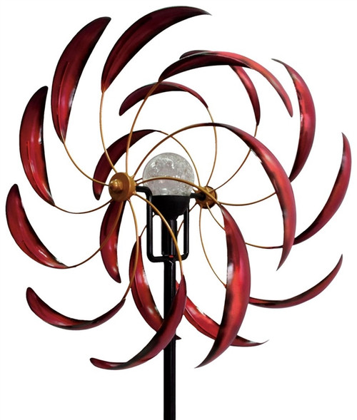 RED SEDONA SOLAR KINETIC WIND SPINNER