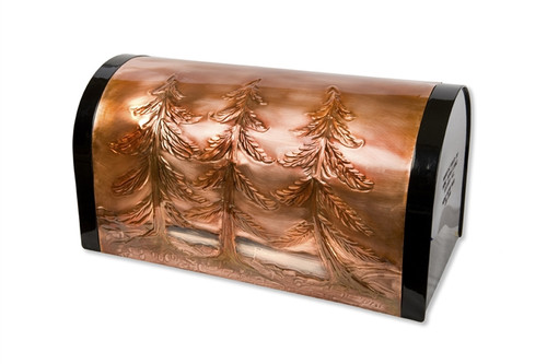 Pine Trees Copper Mailbox