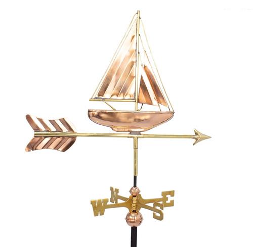 Small Deluxe Sailboat Weathervane