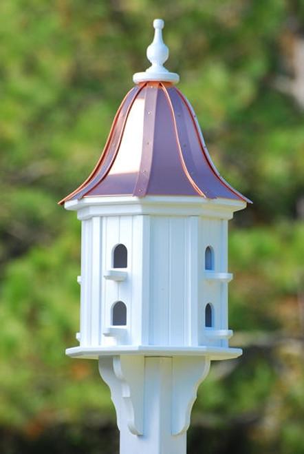 "14""W x 36""H - Octagon Dovecote Birdhouse with Perches"