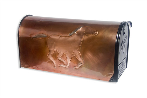 Rural Racer Copper Mailbox