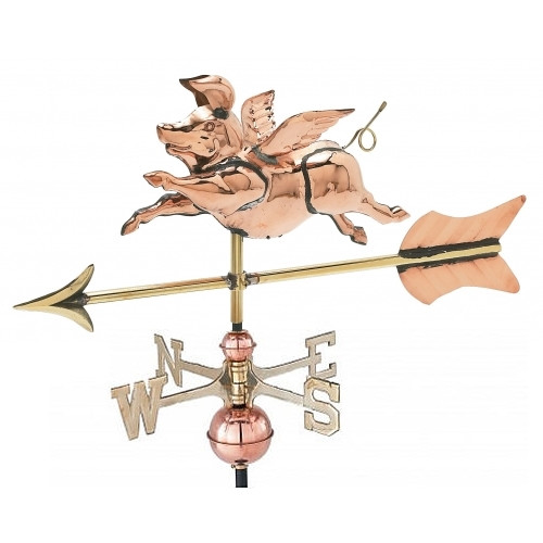 Small 3-D Flying Pig Weathervane