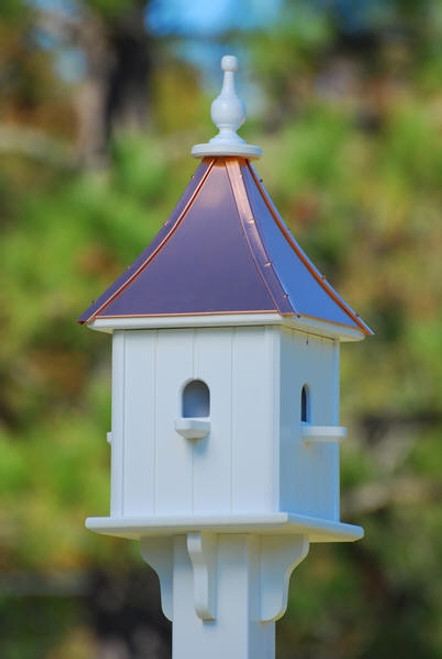 """10""""W x 28""""H - Square Blue Bird House with Perches"""