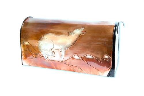 Yellowstone Wolf Copper Mailbox