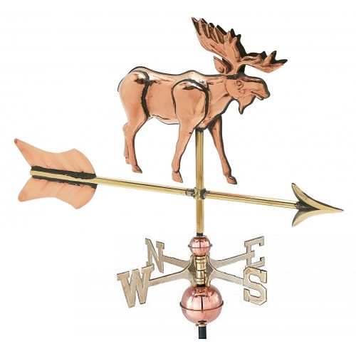 Small 3-D Moose Weathervane