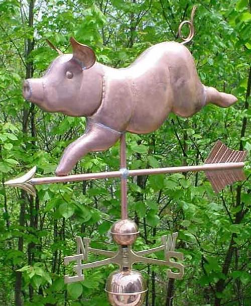 Jumbo Whimsical Pig Weathervane